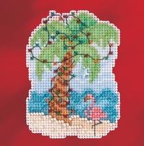 Christmas Palm 2017 Seasonal Winter Series cross stitch kit Mill Hill - $7.20
