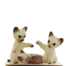 Hagen Renaker Miniature Cat Siamese Kittens Sleeping Sitting and Paw Up Set of 3