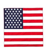 BANDANA Pack of 6 in Red White Blue American Flag Design 100% Cotton - $10.99