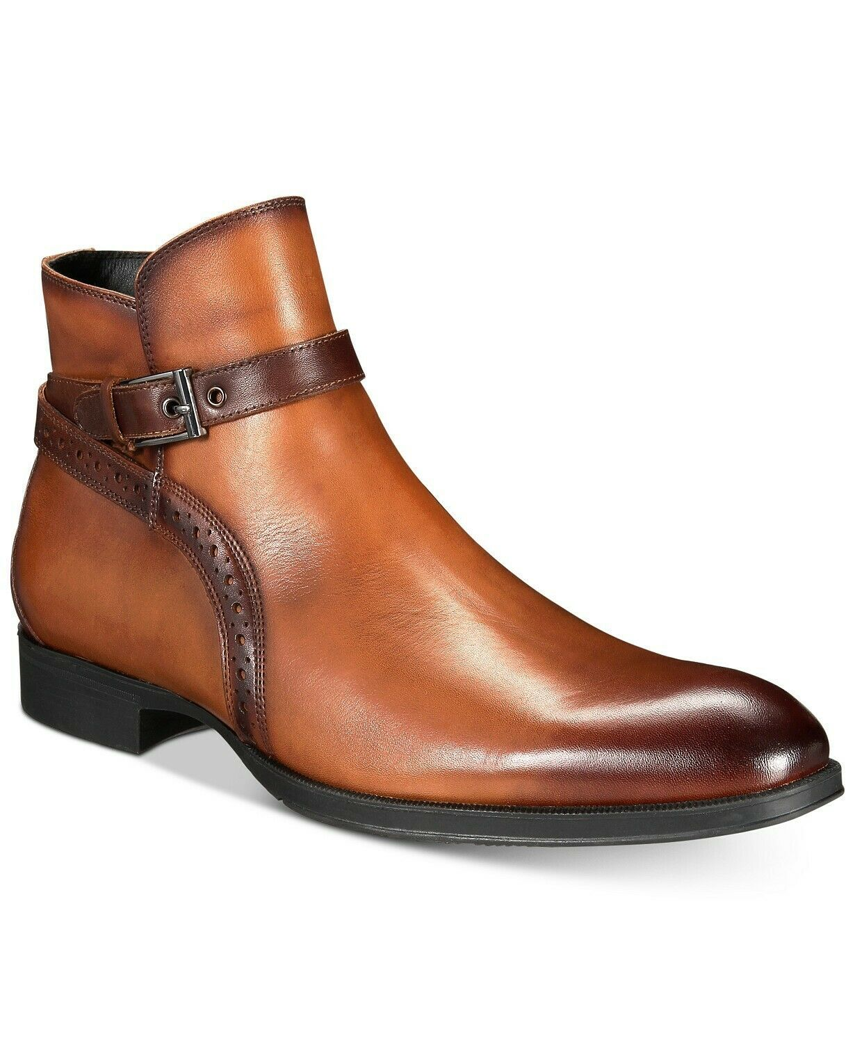 Primary image for Men Brown Jodhpurs Burnished Buckle Strap Premium Quality Ankle Leather Boots