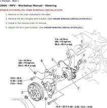 2004-2006 Mazda MPV Factory Repair Service Manual - $12.99