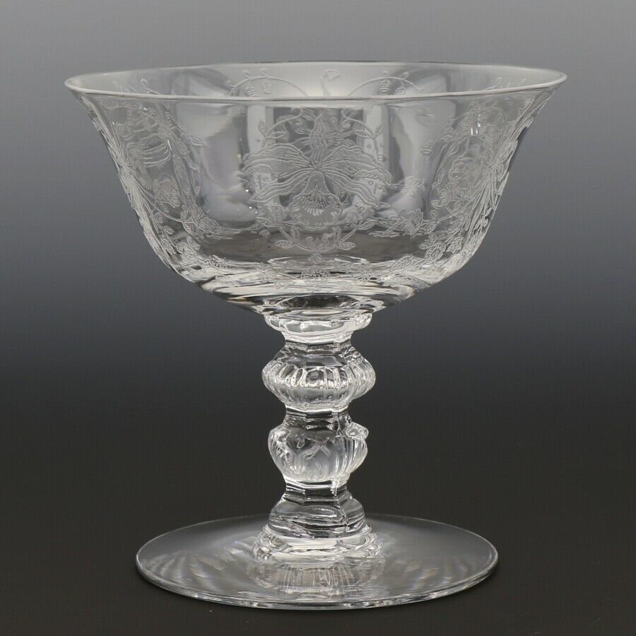 Heisey Orchid #507 Etch #5025 Goblet Low Footed Sherbet