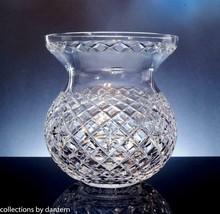 Vintage Waterford Crystal Corset Flower Bowl Centerpiece Vase - $275.00