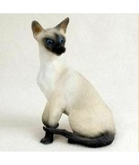 SIAMESE CAT Figurine Statue Hand Painted Resin Gift - $19.99