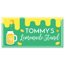 Green Yellow Lemonade Stand Sign Personalized Banner - $22.28+