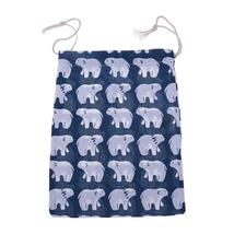 (03 size L)Travel Home Linen Cotton Storage Drawstring Bag Vintage Reusable Tote - $14.00