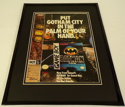 Batman 1990 Game Boy 11x14 Framed ORIGINAL Advertisement - $44.54