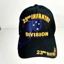 US Army 23rd Infantry Division Men's Cap Hat Black Embroidered Acrylic  - $12.37