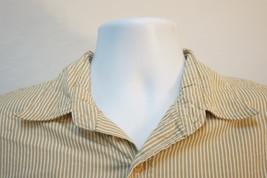 Polo Ralph Lauren Jeans Midweight Pinstriped Button-Down Shirt, Men's Large 7881 - $9.88
