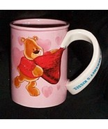 Hersheys Kisses Sharing Love Bears Pink Ceramic Coffee Mug Cup with Swirl Handle - $6.39