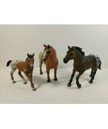 Schleich Appaloosa Horse Family, Mare 13731, Stallion 13732, and Foal 13... - $27.67