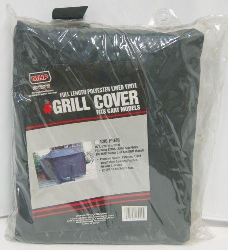MHP CV6PREM Full Length Polyester Lined Vinyl Grill Cover Color Black