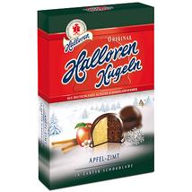 Halloren Kugeln dark chocolate balls: CINNAMON APPLE 125g FREE SHIPPING - $8.37