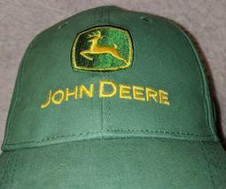 John Deere LP14418 Green Adjustable Baseball Cap With Leaping Deer Logo image 3