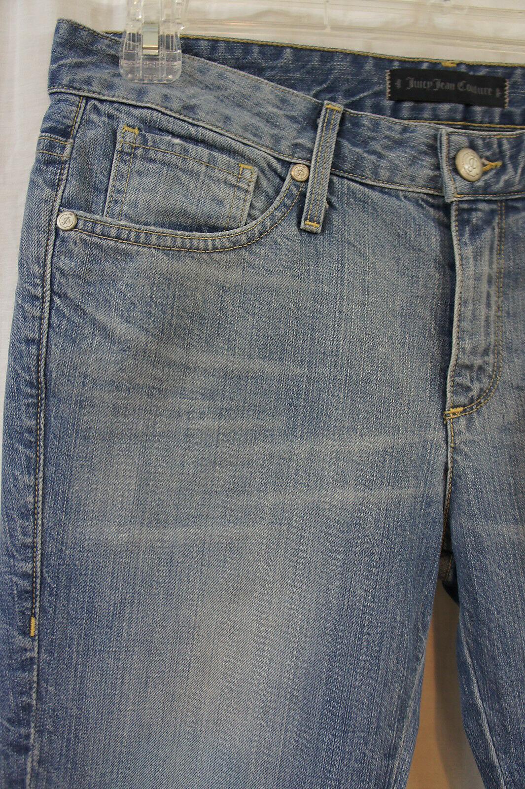 Juicy Jean Couture Sz 27 S Cydell Lavage Relax Étroit Capri Court Décontracté image 3
