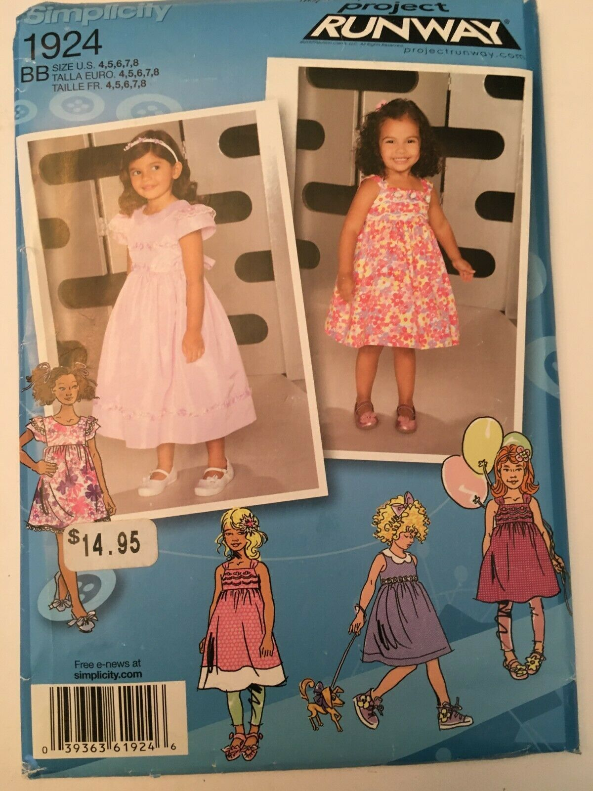 Primary image for Simplicity 1924 Project Runway Dress with Variations Pattern Sz 4,5,6,7,8 Uncut