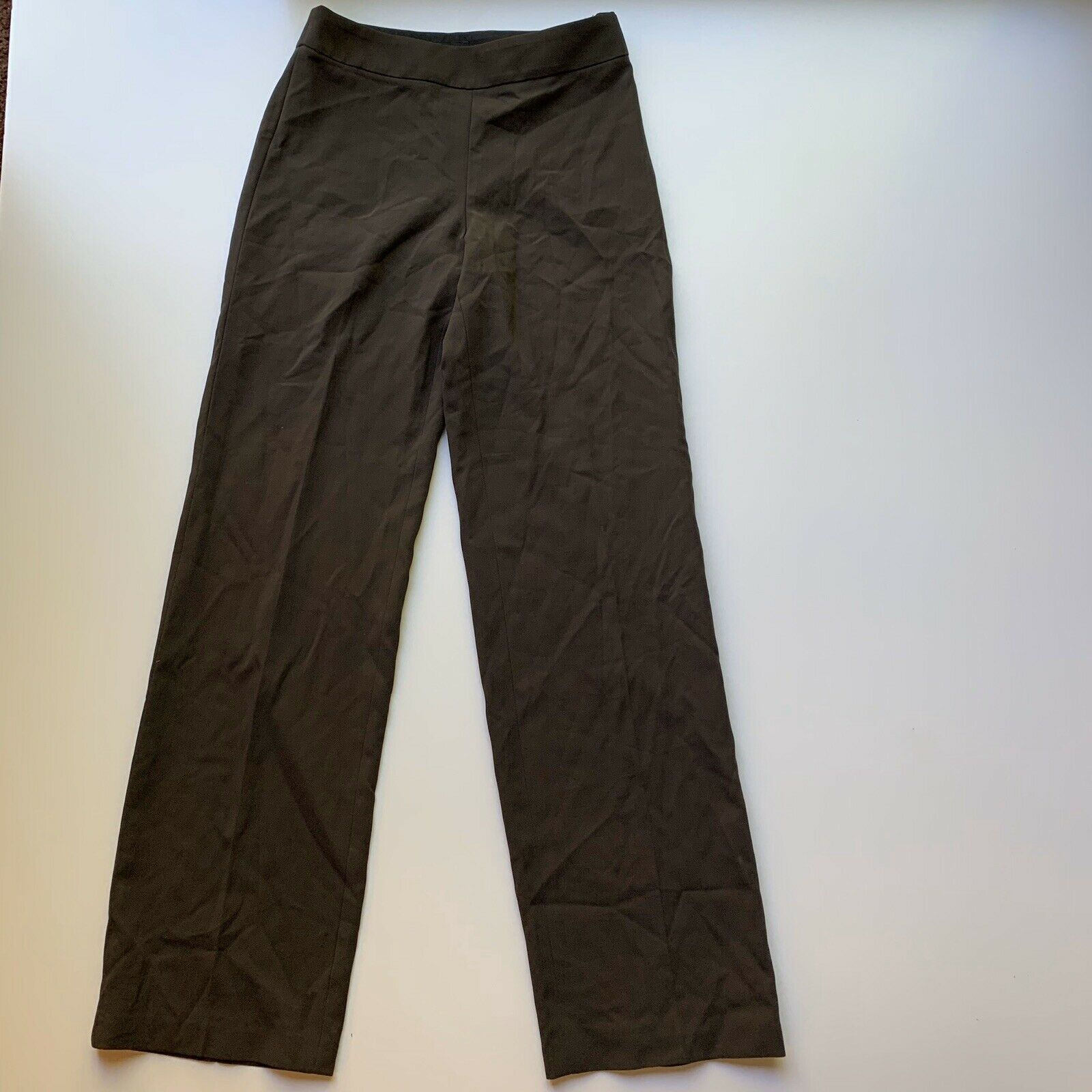 Giorgio Armani Women's Size 40 / Small Brown 100% Wool Dress Pant Trousers Italy image 3