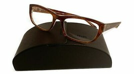 Prada Women's Brown Rectangle Glasses with case VPR 18O BF4-1O1 52mm - $209.99