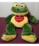 Hug and Luv Frog with Be My Valentine Heart , Big Frog Plush - $18.53