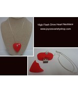 Red Heart 16GB Flash Necklace NIP 925 SS Rope Necklace Free Shipping - $13.99