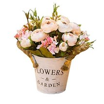 George Jimmy Artificial Flowers for Wedding/Party Table Ornaments-Pale Pink Came - $32.96