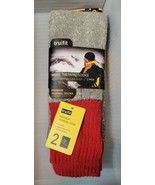 (2) Pair TRU FIT Heavy Cotton Gray Tube Thermal Socks Men's Size 10-15 New - $22.23