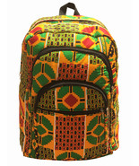 Kente Print African Backpack Book Bag Rucksack Handmade Backpack Fabric ... - $38.75