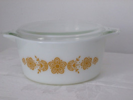 Vintage Pyrex Butterfly Gold 1 casserole #474-B - 1-1/2 quart - $23.00
