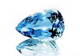 Natural Santa Maria blue Aquamarine pear cut VVS from Santa maria Brazil - $2,886.00