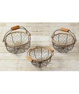 Set 3 Wire Nesting Baskets with Handles - $38.00