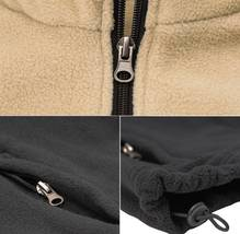 Men's Full Zip-Up Two Tone Solid Warm Polar Fleece Soft Collared Sweater Jacket image 10