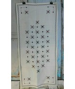 "Vintage Hand Made Cross Stitched  Table Runner 19"" x 41""  - $14.69"