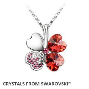 2019 summer style hot sale classic clover necklace with Crystals from Swarovski  image 2