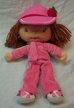 "CUTE STRAWBERRY SHORTCAKE IN PINK JOGGING SUIT 10"" Plush STUFFED ANIMAL Toy - $19.80"