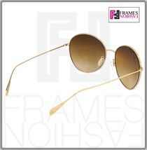 OLIVER PEOPLES BLONDELL 1102 Gold Titanium Brown Beige Polarized Sunglass 1102ST image 6