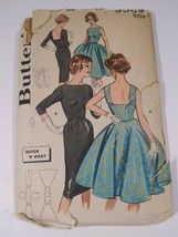 Vintage 40s-60s Butterick Quick N Easy Formal Dress Pattern 9569 Sz 14 - $22.43