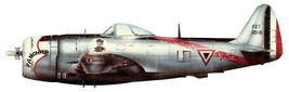 """1/144 scale Resin Model Kit  P-47 Thunderbolt Mexican Air Force """"Panchito"""" - $12.00"""