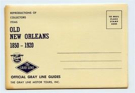 Gray Line Postcard Folder Old New Orleans 1850-1920 Louisiana - $21.84