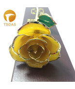 24K Gold Plated Rose Decoration Flower Valentine's Day Gift Gold Dipped ... - $48.20