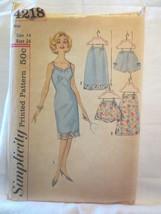 Simplicity 4218 Vtg 1950's pattern Full & Half slip & panties SZ 14 bust... - $20.00