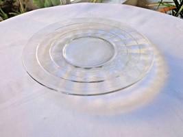 Anchor Hocking Block Optic Clear Sandwich Plate c 1929 - $18.80