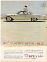 Vintage 1961 Magazine Ad for Buick Sleeker & Trimmer Outside Roomier Inside - $5.93