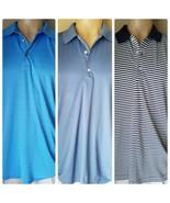 3 Men's Polo Golf Shirts Ashworth Greg Norman Bobby Jones Blue Short Sle... - $54.64