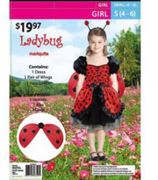 Primary image for Girls Ladybug Halloween Costume Size 8-10 Years
