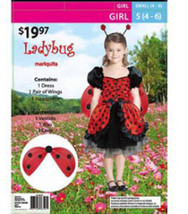 Girls Ladybug Halloween Costume Size 8-10 Years - $20.00