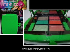 Hot Stuff Eye Shadow Lip Gloss Compact NWT Neon Green Case - $7.99