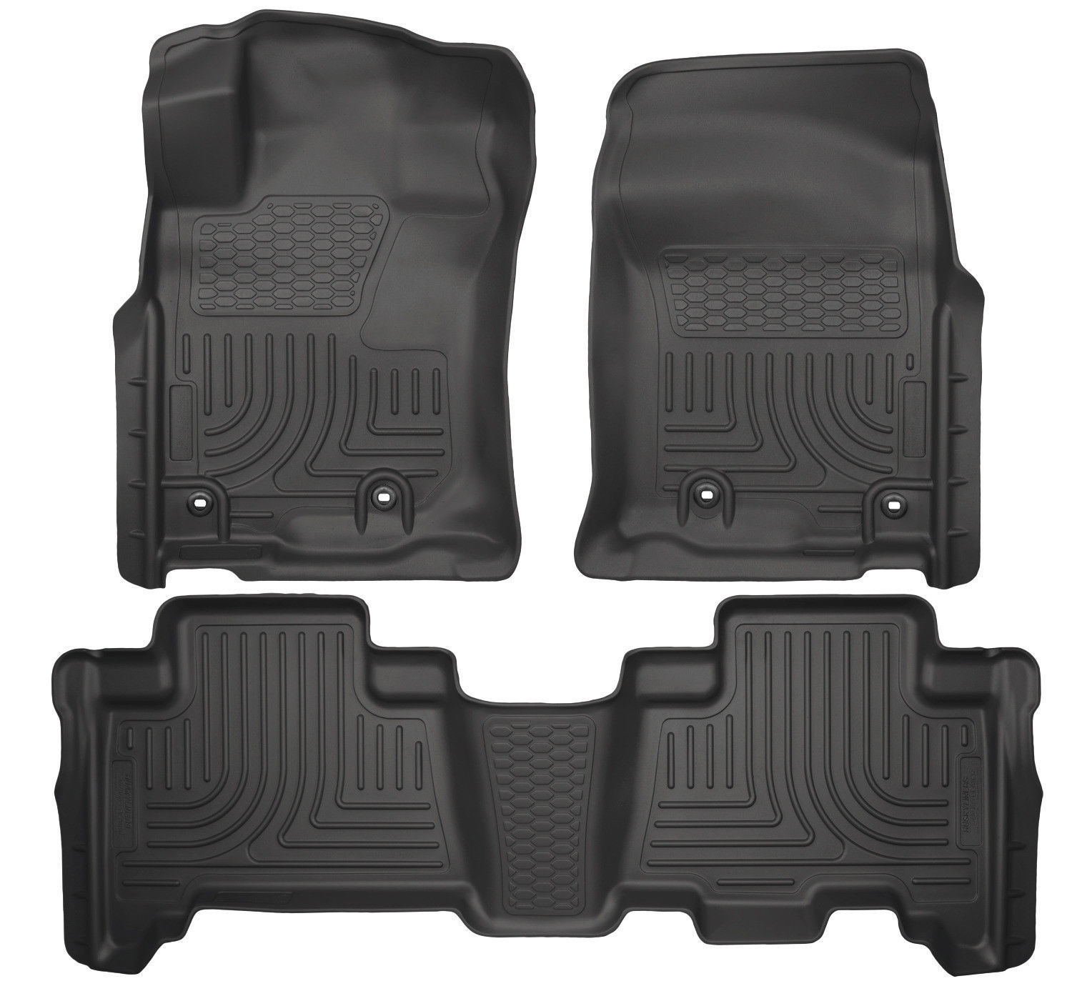 Husky Liners 13-16 Toyota 4Runner WeatherBeater Black Front & 2nd Seat Floor Mat