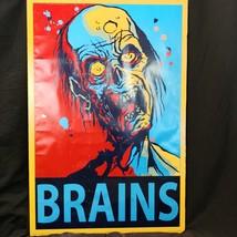 Tavares Brains Zombie Hope Poster some damage - $14.01