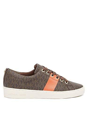 Michael Kors Womens Keaton Lace up Low Top Lace up, Brown/Mimosa, Size 10.0