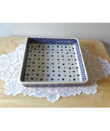 "Polish Pottery Square Baker Baking Dish 8"" Square - $74.95"
